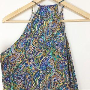 Zara paisley halter mini dress. Gorgeous print Med